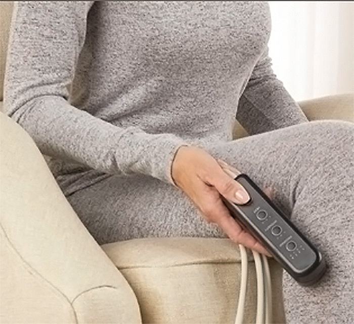 massaging therapy booties remote