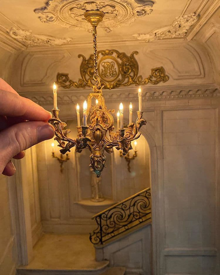miniature home interior chandelier