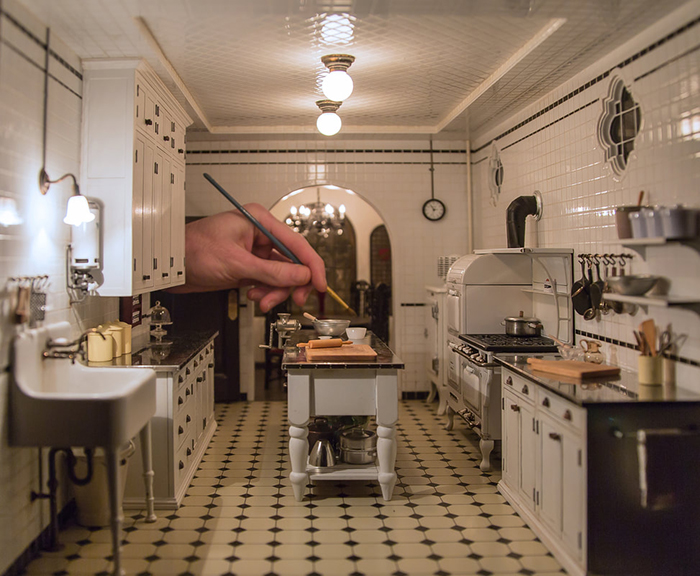 miniature kitchen vintage interiors