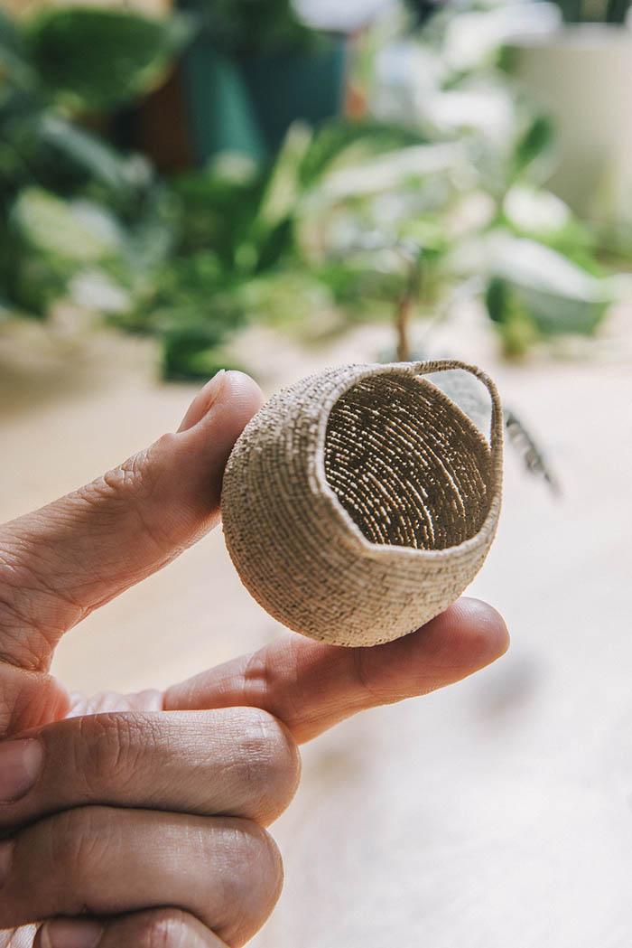 miniature woven basket