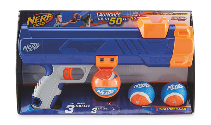 nerf dog tennis ball launcher game of fetch