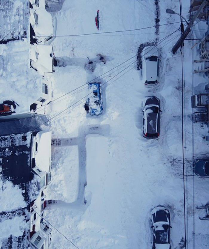 newfoundland blizzard entire city covered with snow