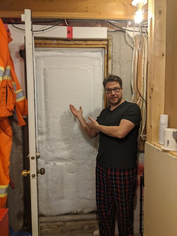 newfoundland blizzard ice door