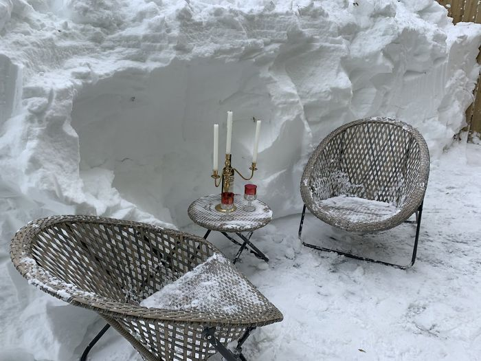 newfoundland blizzard ice patio