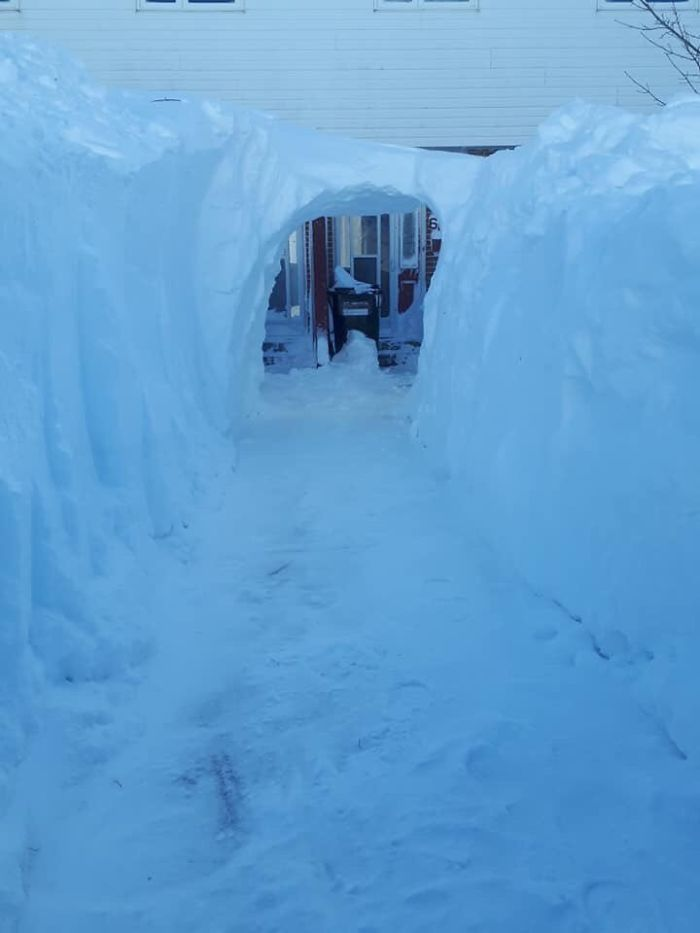newfoundland blizzard snow tunnel