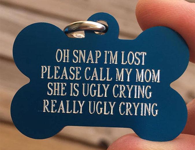 oh snap funny dog tag