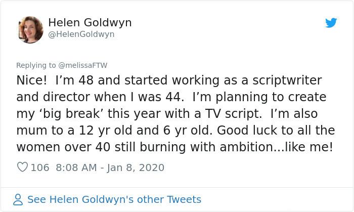 people succeed late in life helen goldwyn