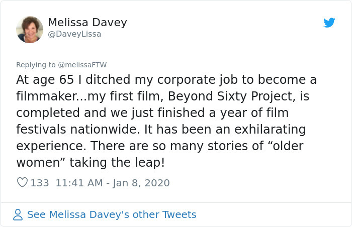 people succeed late in life melissa davey