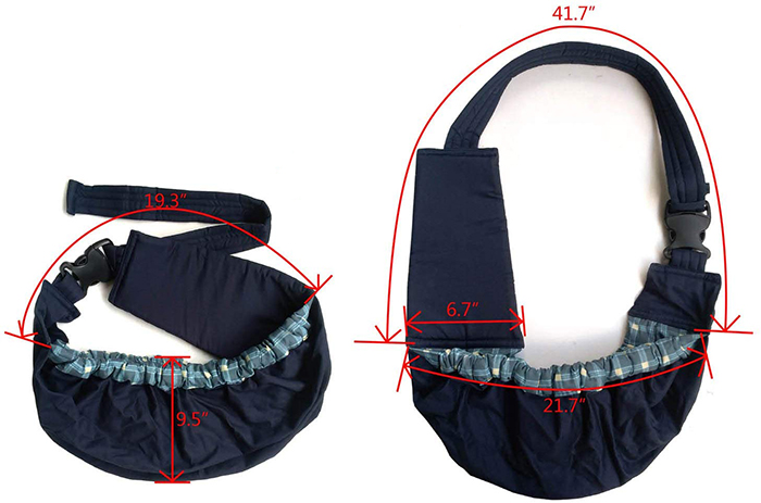 pet sling carrier details