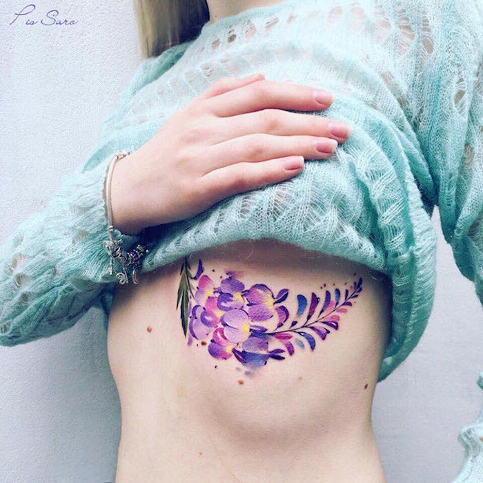 pis saro floral tatoos