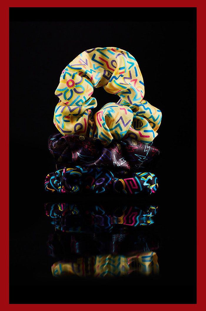 retro scrunchie set