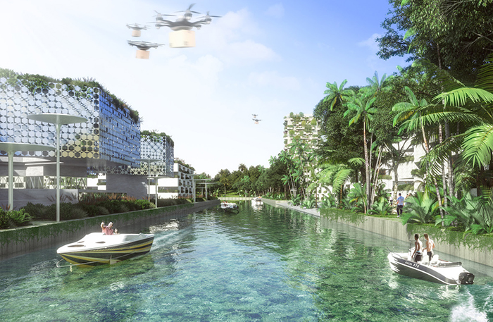 self-sustainable urban center project cancun mexico
