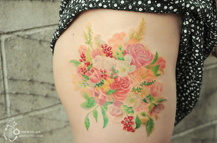 silo watercolor flower design