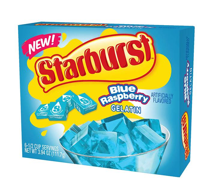 starburst gelatin blue raspberry
