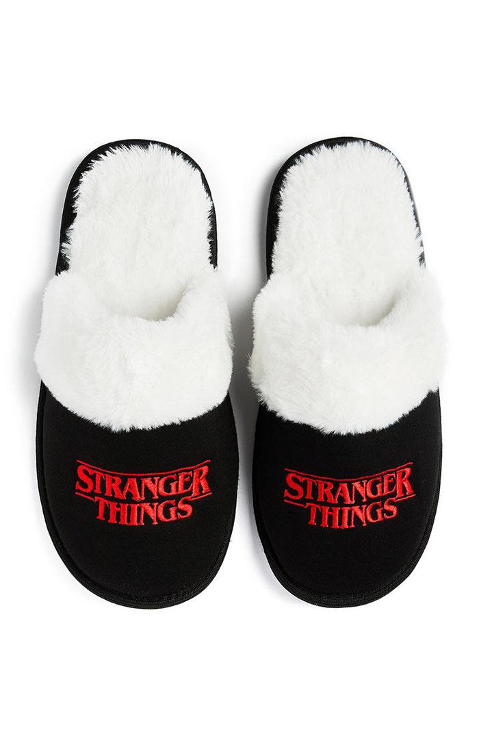 stranger things fuzzy slippers