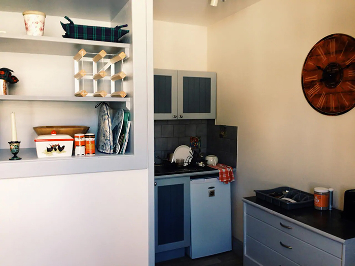 the open book apartment kitchen