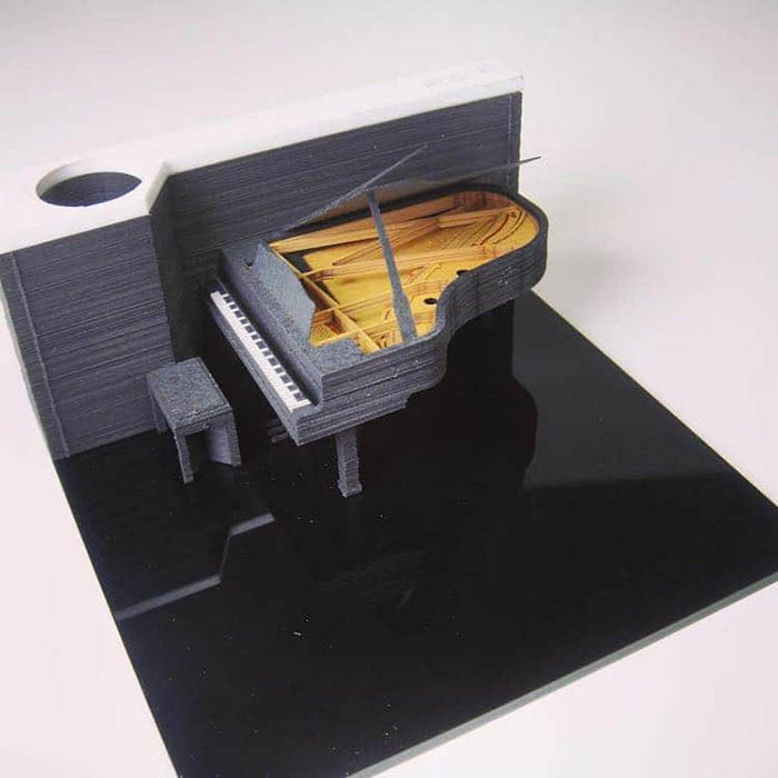 triad omoshiroi memo pad piano model