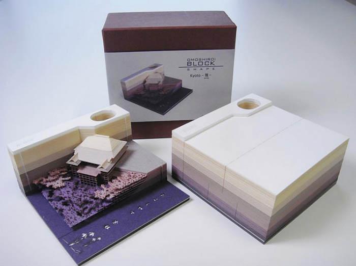 triad omoshiroi memo pad purple kyoto