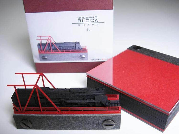 triad omoshiroi memo pad train model