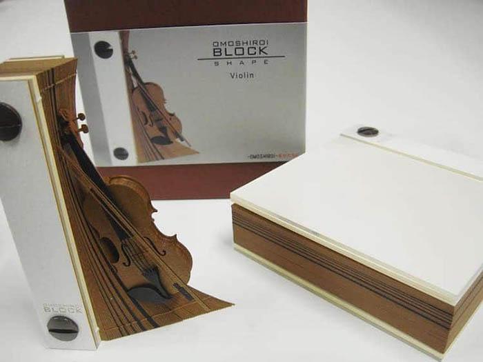 triad omoshiroi memo pad violin model