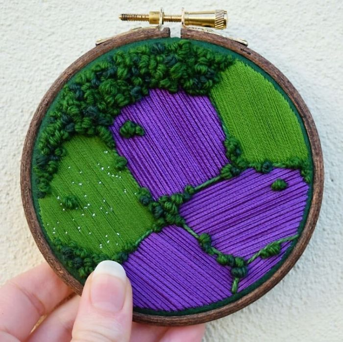 victoria richards aerial purple green fields