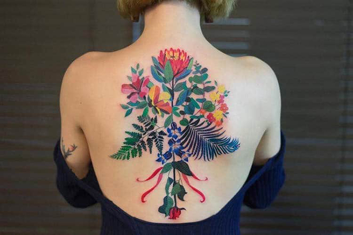zihee tattoo watercolor floral tattoos