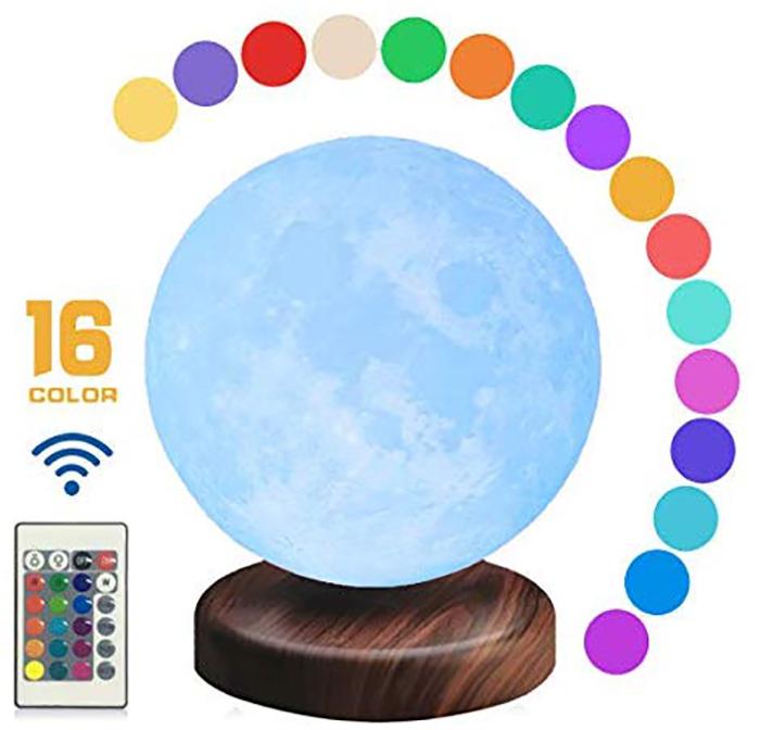 16 color levitating moon lamp