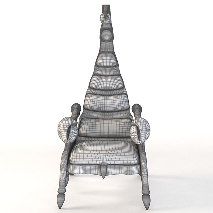 3d photorealistic model scorpion chair