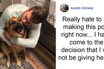 Austin Conway keeping dog