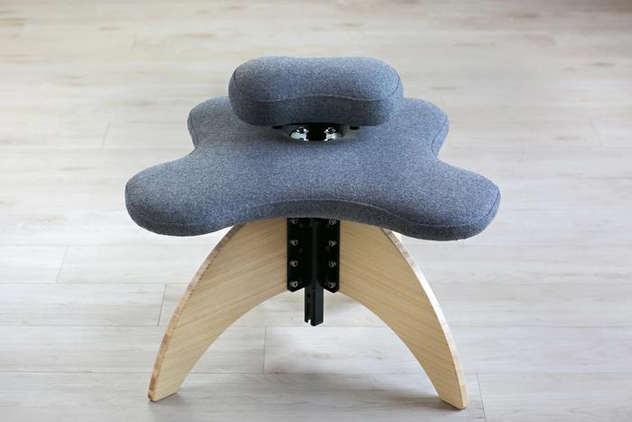 Bamboo Soul Seat in Grey Pendleton Wool Natural