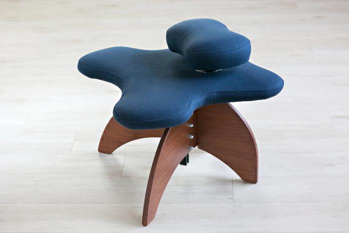 Bamboo Soul Seat in Marine Pendleton Wool Amber