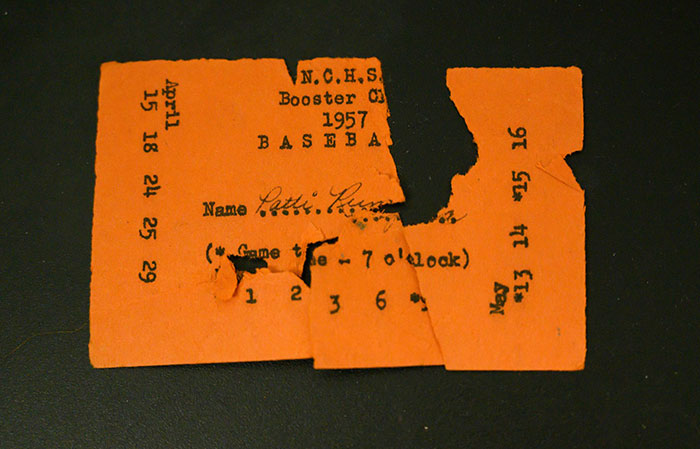 Baseball Game Admission Ticket