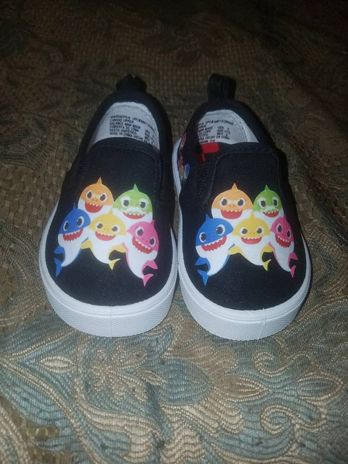 Black Baby Shark Shoes by Nadelra