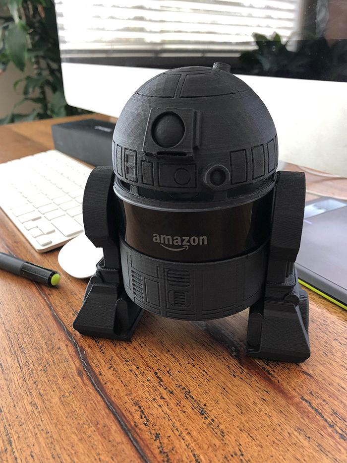 Black R2-D2 Holder for Amazon Echo Dot 2nd Generation Smart Speaker