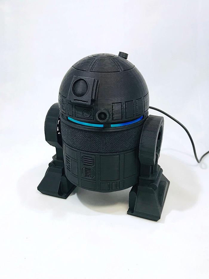 Black R2-D2 Holder for Amazon Echo Dot 3rd Generation Smart Speaker