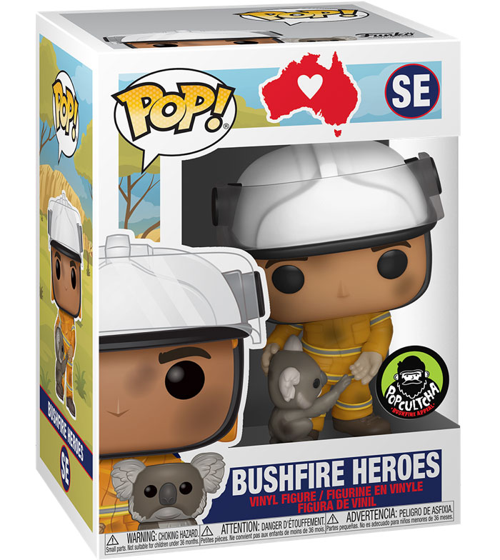 Bushfire Heroes Special Edition Funko Pop Figure Packaging