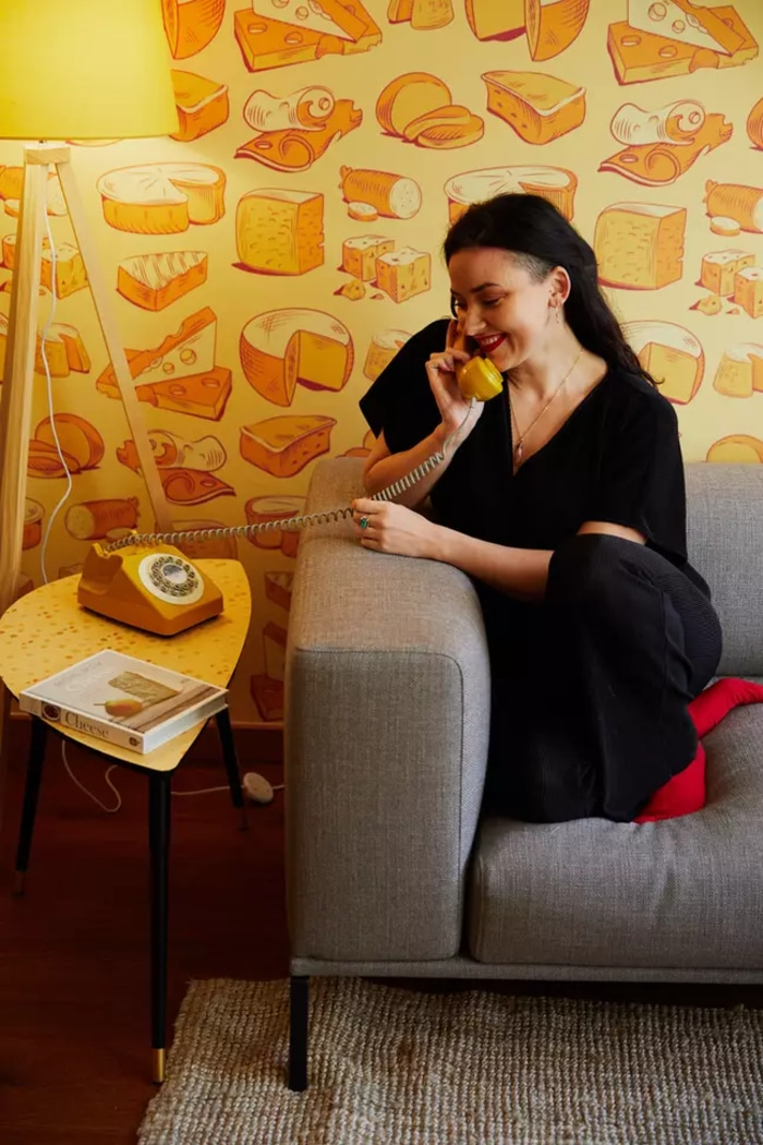 Cheese-themed Hotel Cheese Hotline Delivery Service