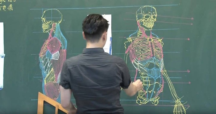 Chuan Bin Chung Drawing the Human Skeletal System