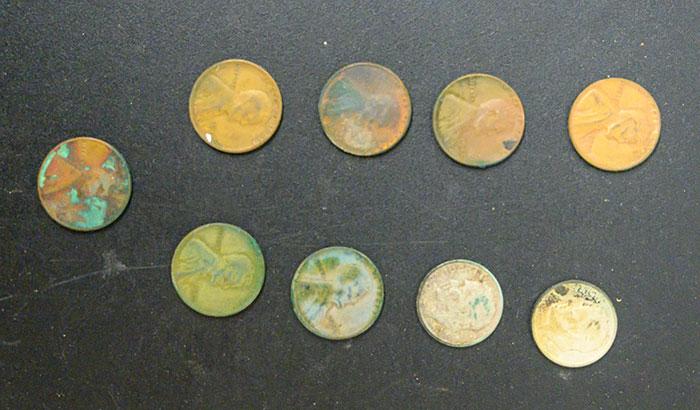 Coins Found inside Patti Rumfola's Purse