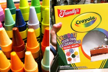 Crayola ice cream cake