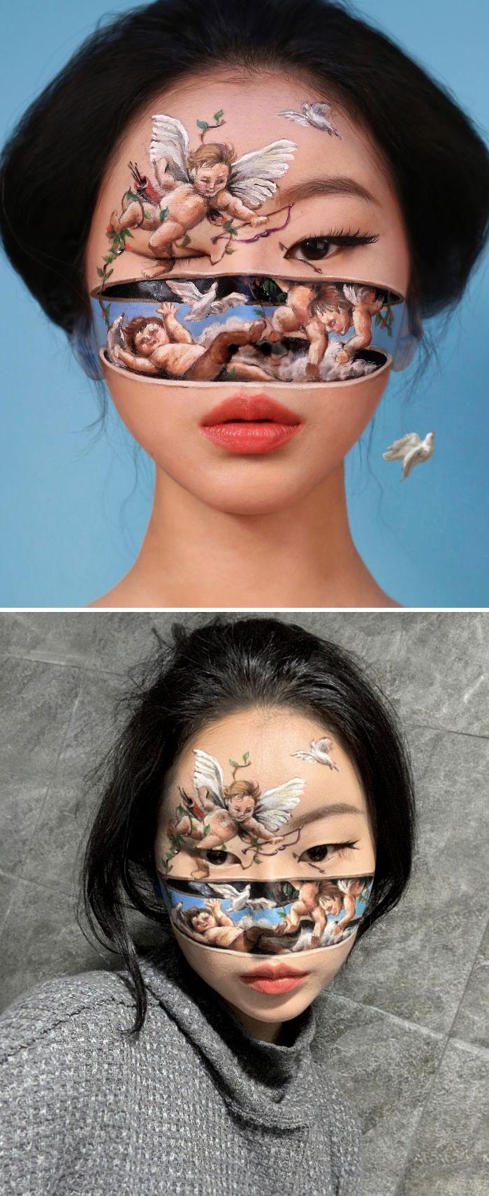 Dain Yoon Optical Illusion Makeup Fallen Angels