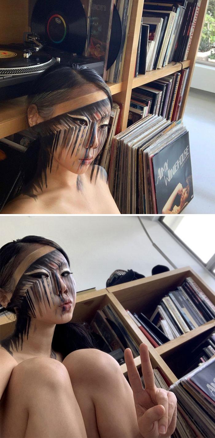 Dain Yoon Optical Illusion Makeup Vinyl Records