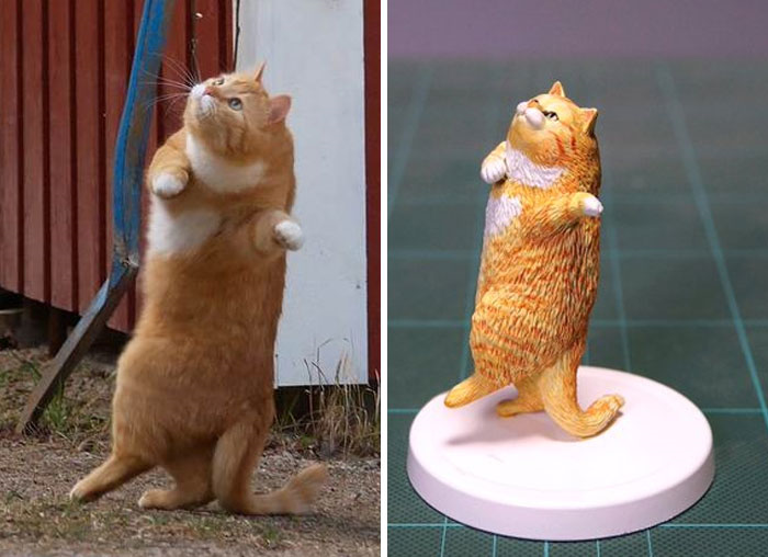 Dancing Cat Sculpture