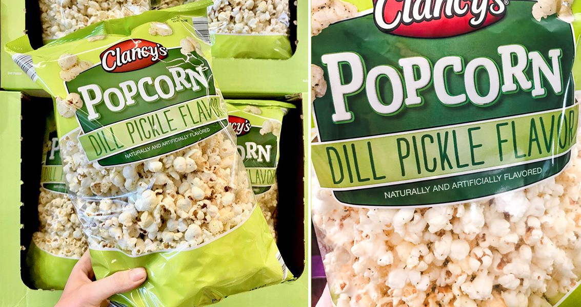 You Can Now Get Big Bags Of Dill Pickle Popcorn At Aldi