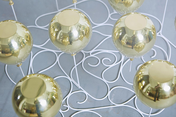 Duffy London Gold Metal Resin Composite Balloons