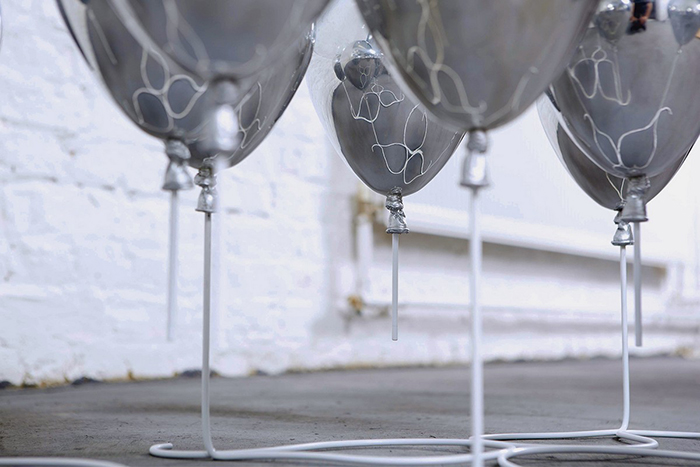 Duffy London Silver Metal Resin Composite Balloons