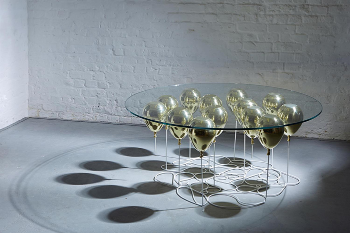 Duffy London UP Balloon Coffee Table Round Gold