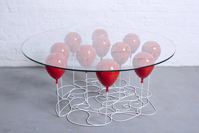 Duffy London UP Balloon Coffee Table Round Red