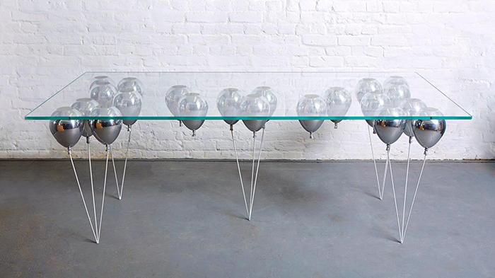 Duffy London UP Balloon Dining Table Silver