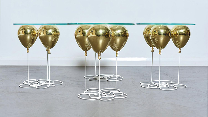 Duffy London UP Balloon Side Tables Gold
